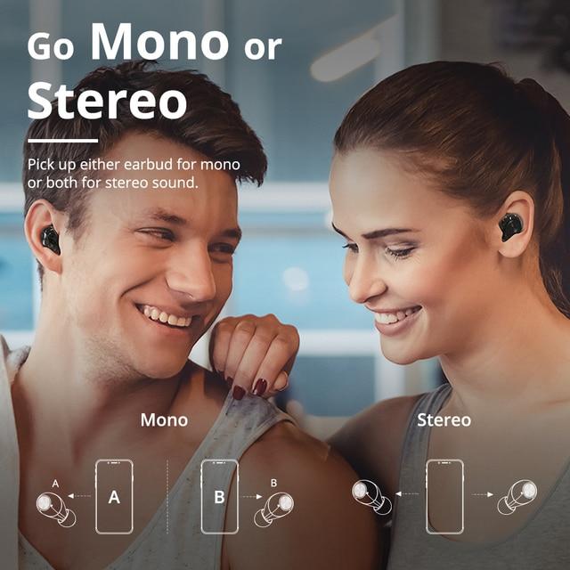 Tronsmart Spunky Beat True Wireless Stereo Bluetooth Earphone APTX Wireless Earbuds with Qualcomm Chip, CVC 8.0, Touch Control, 6