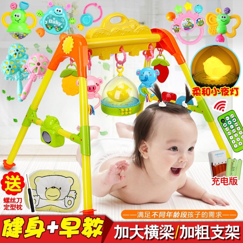 Month Newborns Infants 3-6-12 Fitness Rack 0-1-Year-Old Baby Mainland China Plastic Fitness Equipment Children