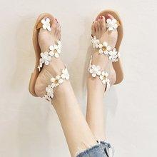 цена на Women Sandals 2020 New Summer Shoes Woman Bohos Beach Shoes With Flat Sandals Plus Size 43 Gladiator Sandalias Mujer Flip Flops