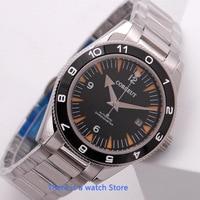 Corgeut 41mm Automatic Mechanical Mens Watch Luxury Brand Sport Date Waterproof 007 Watch Sapphire Glass Wristwatch Men