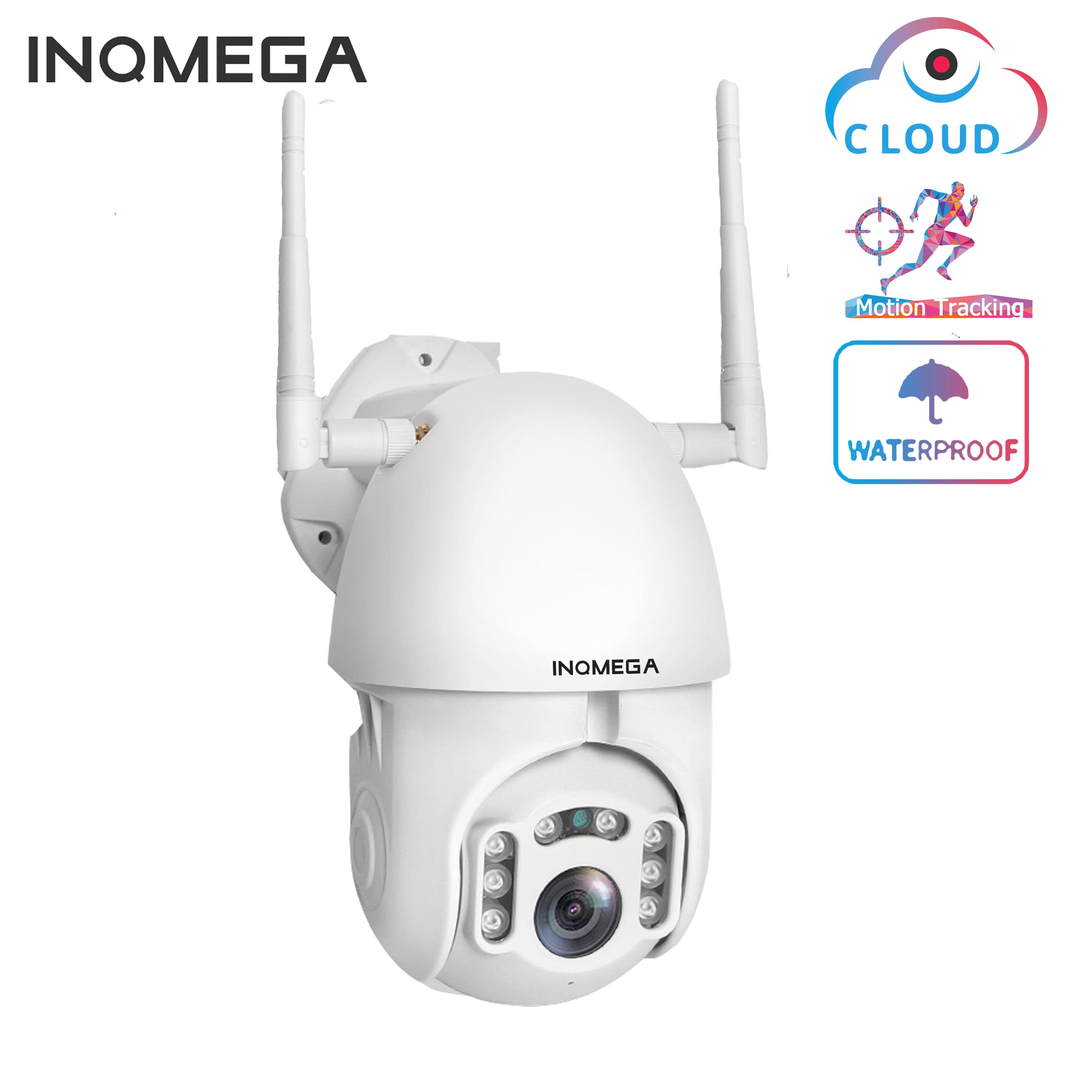 Inqmega 1080 p câmera ip wi fi sem fio de rastreamento automático ptz velocidade dome câmera ao ar livre cctv segurança vigilância câmera à prova dwaterproof água