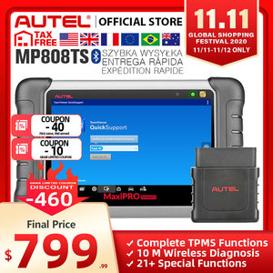 Image 1 - Autel MaxiPRO MP808TS Diagnostic Tool Automotive Scanner Bluetooth WIFI  TPMS Tool Programmer sensor PK MK808 MK808TS AP200