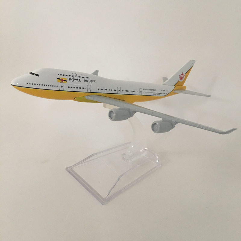 16CM Royal Brunei B747 Plane Model Airplane Model Boeing 747 Planes Aircraft Model Toy 1:400 Diecast Metal Airplanes Toys