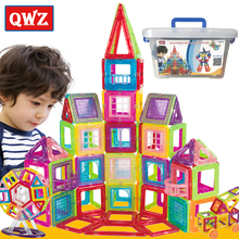 QWZ New Mini Magnetic Designer Construction Set Model & Building Plastic Magnetic Blocks Educational Toys For Children Gift