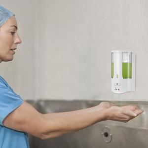 Image 2 - 400ml Automatic Liquid Soap Dispenser Wall Mounted Sensor Soap Dispenser Hand Sanitizer Shampoo Container for Kitchen Bathroom