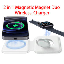 Q500 carregador sem fio dobrável doca de carregamento magnético para iphone 12 pro max mini para apple iwatch magsafe indução carregadores