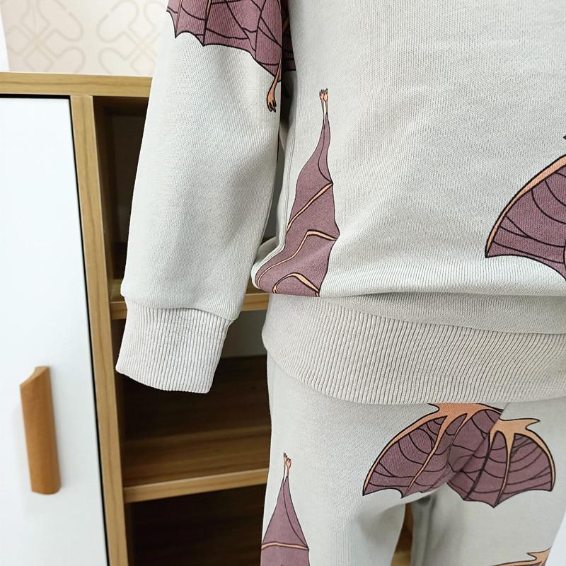 2021 spring autumn boys brand clothes children Hoodies & Sweatshirts boy cotton bat print kids sweatshirts fleece 3