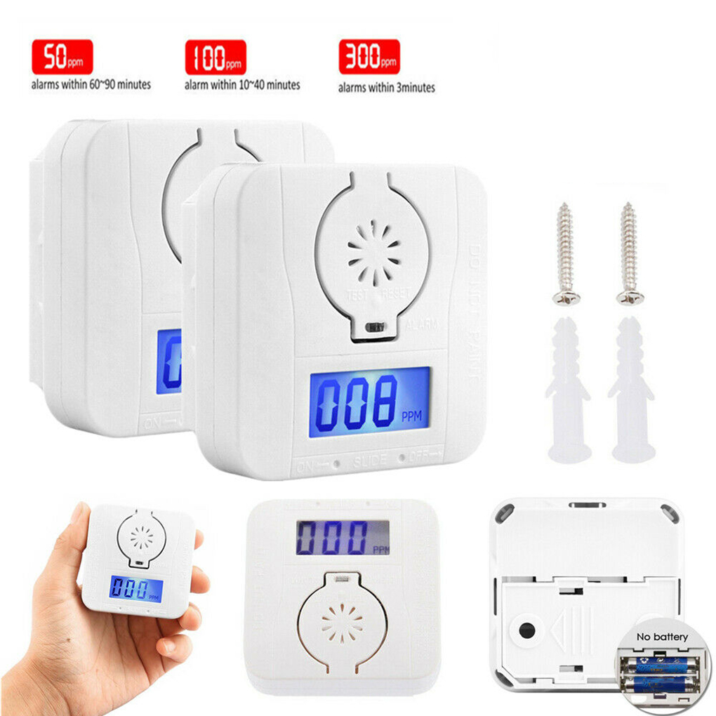 1/2/4pcs Carbon Monoxide-Smoke Detector Alarm Poisoning Gas Detector Warning Sensor LED Display