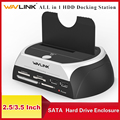 Корпус Wavlink для док-станции SATA HDD «Все в 1»  чехол для внешнего жесткого диска SATA 2 5/3 5 дюйма  жесткий диск SSD  чехол HD Box