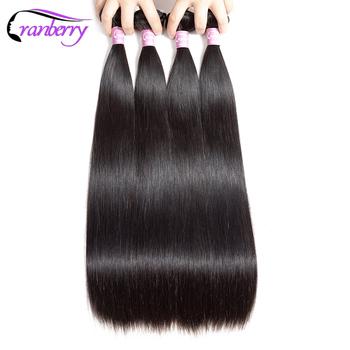 Cranberry włosy 4 zestawy Deal brazylijski włosy wyplata wiązki pasma prostych włosów 100 pasma włosów typu remy wyplata 100 g sztuka 8-26 Cal tanie i dobre opinie Straight = 5 Włosy remy Tylko ciemniejszy kolor Prostowane Swobodna 4 ogony Brazylijskie włosy