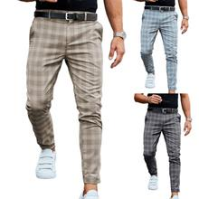 Pant Plaid Printed Fashionable Men Full Length Trouser for Leisure Time Outdoor Fashion Training Pants Full Length Jogging Pants