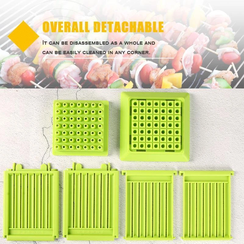 49 Holes Skewer Kebab Maker Grill Barbecue Kitchen Accessories Tools for Camping