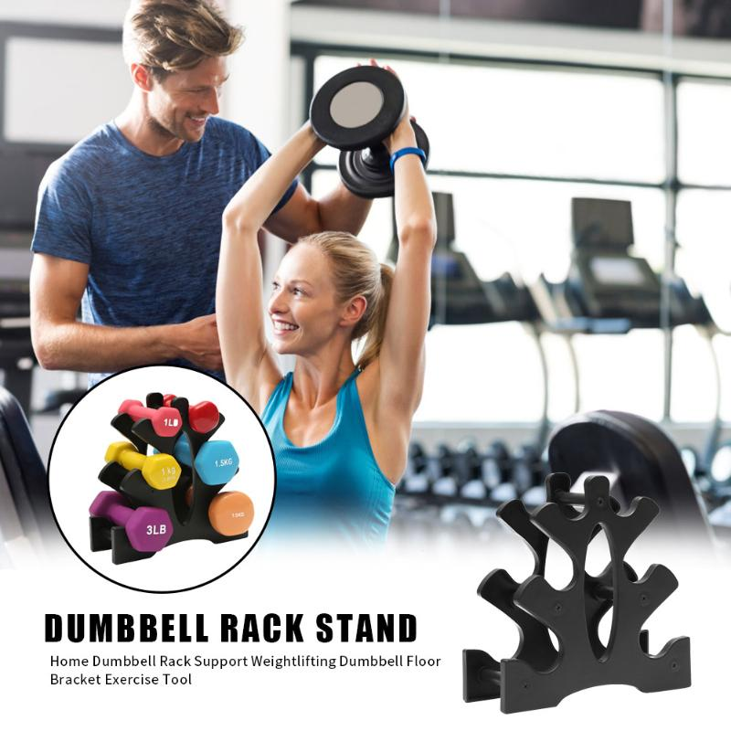 3-Tier Dumbbell Storage Rack Stand For Multilevel Hand Weight Tower Stand For Gym Organization Body Building Storage Supplies