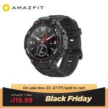 В наличии 2020 CES Amazfit T rex T rex умные часы 5ATM водонепроницаемые Смарт часы GPS/GLONASS AMOLED экран для iOS Android