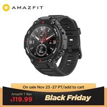 במלאי 2020 CES Amazfit t rex T רקס Smartwatch 5ATM עמיד למים חכם שעון GPS/GLONASS AMOLED מסך עבור iOS אנדרואיד
