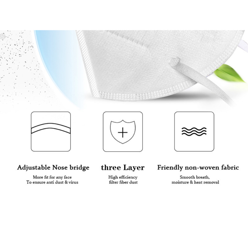 Image 3 - N95 3 Layer Surgical Mask Virus protection Medical Disposable  Face Masks Elastic Ear Loop Disposable Dust Filter Safety Mask  -