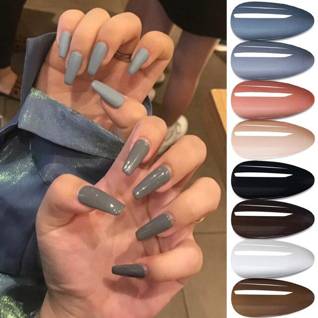 7ml Colorful Gel Varnish UV Vernis Semi Permanent Soak Off Nail Painting Polish Lacquer DIY Nail Art Design Manicure Tool BE1571 4