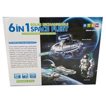 6 em 1 espaço solar frota kit ciência brinquedos para crianças diy montar astronauta rover cão shuffle modelo educacional presente de natal