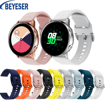 20mm Silicone Original sport watch band For Galaxy watch active smart watch strap For Samsung Galaxy 42mm watch Bracelet strap 20mm watch strap for samsung galaxy watch active sports silicone replacement band for samsung galaxy watch 42mm bracelet belt