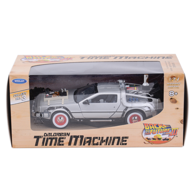 Welly 1:24 DMC-12 DeLorean Time Machine Back to the Future Car Static Die Cast Vehicles Collectible Model Car Toys 6