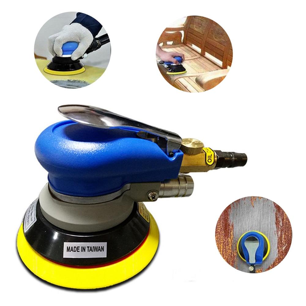 5 Inch Air Sander Polished Grinding Machine Non-Vacuum Matte Surface Circular Pneumatic Sandpaper Random Orbital  Hand Tools