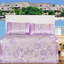 Home Textile Rubber Fitted Sheet Summer Viscose Fiber Flower Summer Cool Mat Bed Protection Mat 150*195cm Mattress Cover Bed Mat
