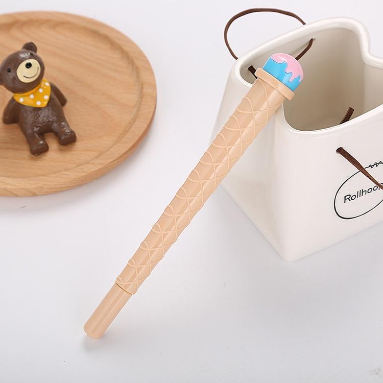 Creative learning stationery syringe neutral pen cool summer cute simulation ice cream syringe water based signature pen