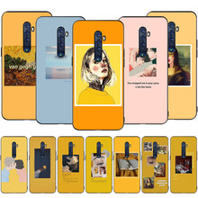 Excelente arte pintura estética para realme q x2 xt x50 x lite c2 c3 c11 c12 c15 c17 narzo 20 pro caso do telefone de silicone macio