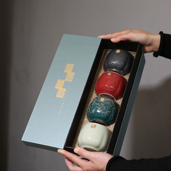 PINNY 170ML Retro Coarse Pottery Kiln Teacups Japanese Style Kung Fu Tea Cups Heat Resistant Bowl Drinkware