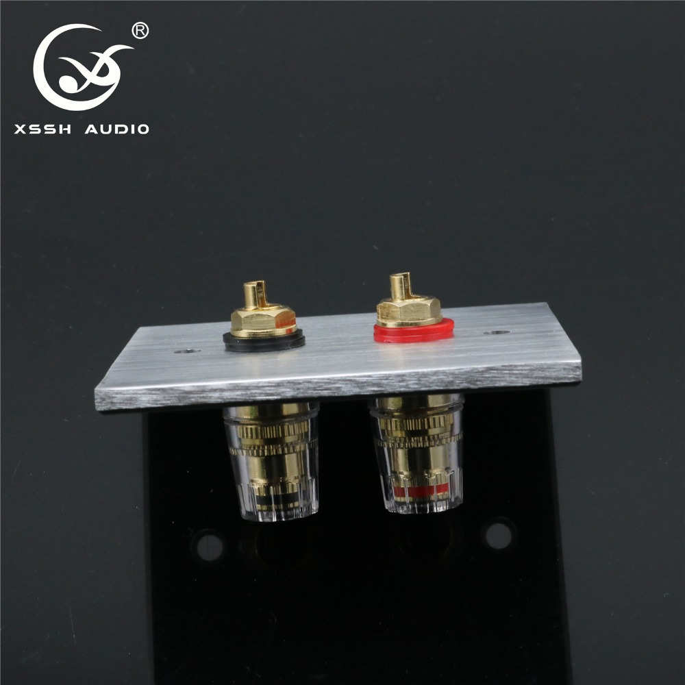 1 Set XSSH Audio Hi-End Gold Plated Amplifier Speaker Terminal Female Long Short Version Including Binding Post And Banana Plug