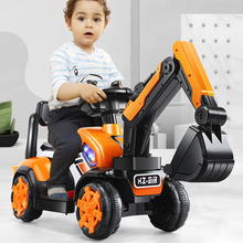 Children's  Electric Excavator Scooter Baby Walker  Ride on Toys Four Wheel Kids Car for 1-6 Years Old