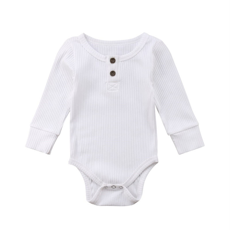 Pop Casual Newborn Infant Toddler Kids Baby Boy Girl Knitting Long Sleeve Solid Romper Jumpsuit Clothes Outfits Warm Cotton