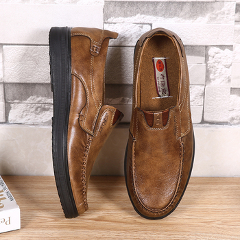 2020 Leather Men Casual Shoes Fashion Men Loafers Breathable Walking Shoes Lightweight Slip-on Driving Footwear Big Size 38-48 lightweight men casual shoes fashion men loafers slip on suede leather shoes outdoor non slip walking loafers zapatillas hombre