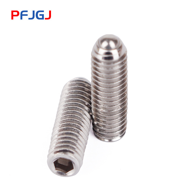 Peng Fa Stainless steel 304 ball tightened inner hexagonal 304 ball end plunger stainless steel wavy M3M4M5M6M8M10M12M16 in Screws from Home Improvement