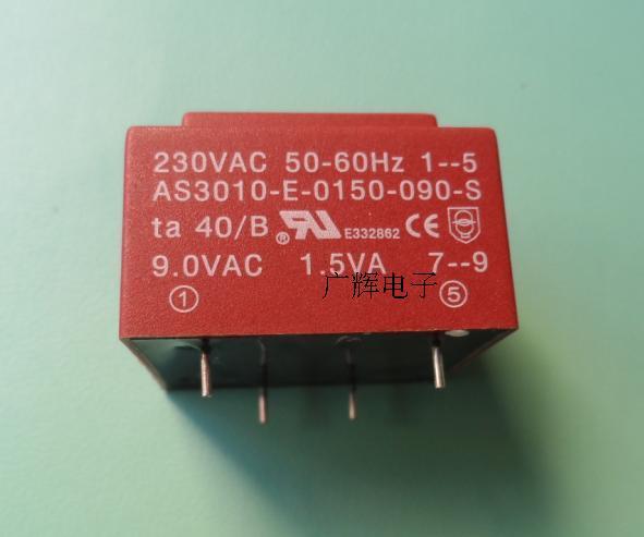 1pcs AS3010-E-0150-090-S Encapsulated Transformer 32.5×27.5×21.8MM Direct Soldering EI30/10.5 1.5VA 230V To 9V Transformer