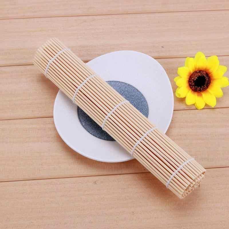 DIY Maker mata do Sushi japoński ryż Rolling Roller nie-uchwyt kija narzędzi do gotowania bambusa akcesoria kuchenne z kurczaka Sushi narzędzie do