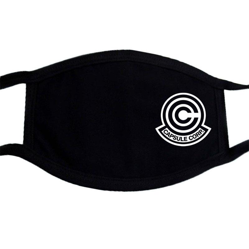 Japanese Anime Mask  Cartoon Kawaii Masks Black Casual Mouth Mask Reusable Dustproof Mouth-muffle Keep Warm Masks