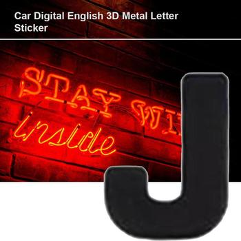 Car 3D letter car stickers English letters car logo DIY alphanumeric metal body stickers word mark tail silver image