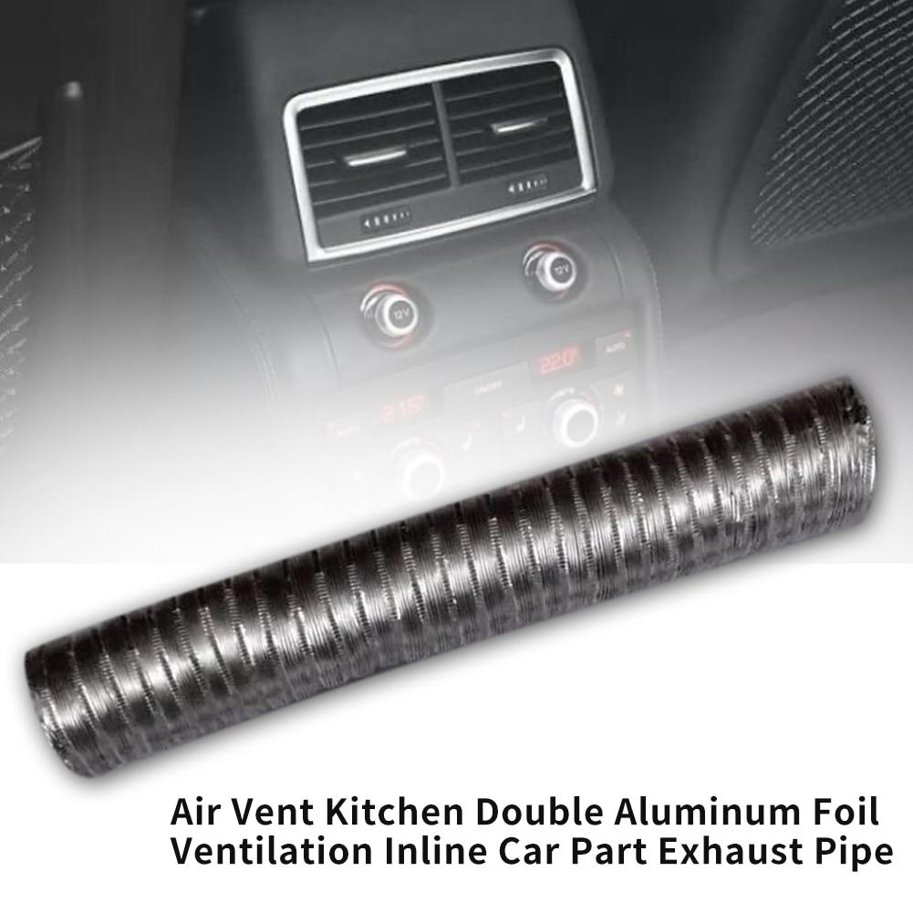 Inline Car Part Toilet Double Aluminum Foil Accessories Kitchen Fan Hose Ducting Air Vent Exhaust Pipe Tube Ventilation