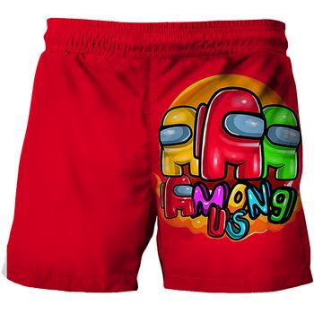 3D Cartoon wśród nas dzieci letnie spodenki kąpielowe dla niemowląt chłopcy dziewczęta stroje kąpielowe maluch dzieci ubrania moda drukuj plaża krótkie spodnie chłopięce tanie i dobre opinie ETST WENDY CZTERY PORY ROKU 4-6y 7-12y 12 + y Damsko-męskie POLIESTER CN (pochodzenie) szorty Dobrze pasuje do rozmiaru wybierz swój normalny rozmiar