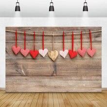 Laeacco фон для фотосъемки с изображением деревянной доски сердца