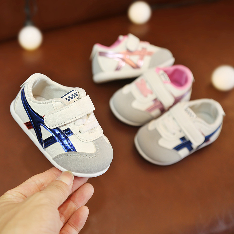 Spring And Autumn Baby First Walkers Soft Botton Baby Boys Sports Shoes Fashion Hook Loop Girls Leather First Walkers Kids Shoes
