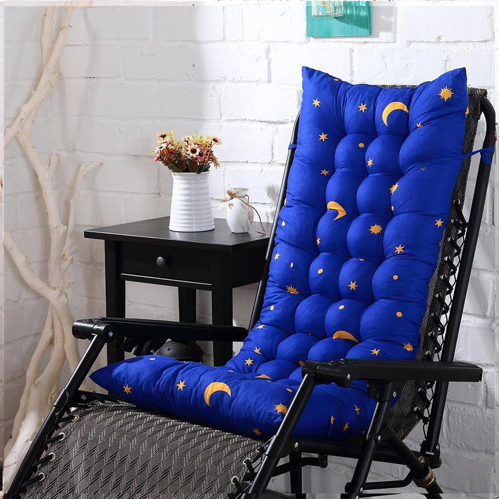 Thicken Double Side Folding Moon Stars Print Recliner Rocking Chair Sofa Soft Back Cushions Pillow For Chair Recliner Cushion