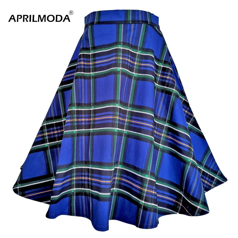 Клетчатая юбка с высокой талией из хлопка в стиле Одри Хепберн, 40, 50, 60, клетчатая Ретро винтажная юбка-качели, плиссированные вечерние