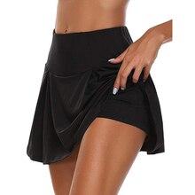 Летняя спортивная короткая юбка для тенниса, йоги, фитнеса, бадминтона, дышащая быстросохнущая женская спортивная антиэкспозиционная тенн...
