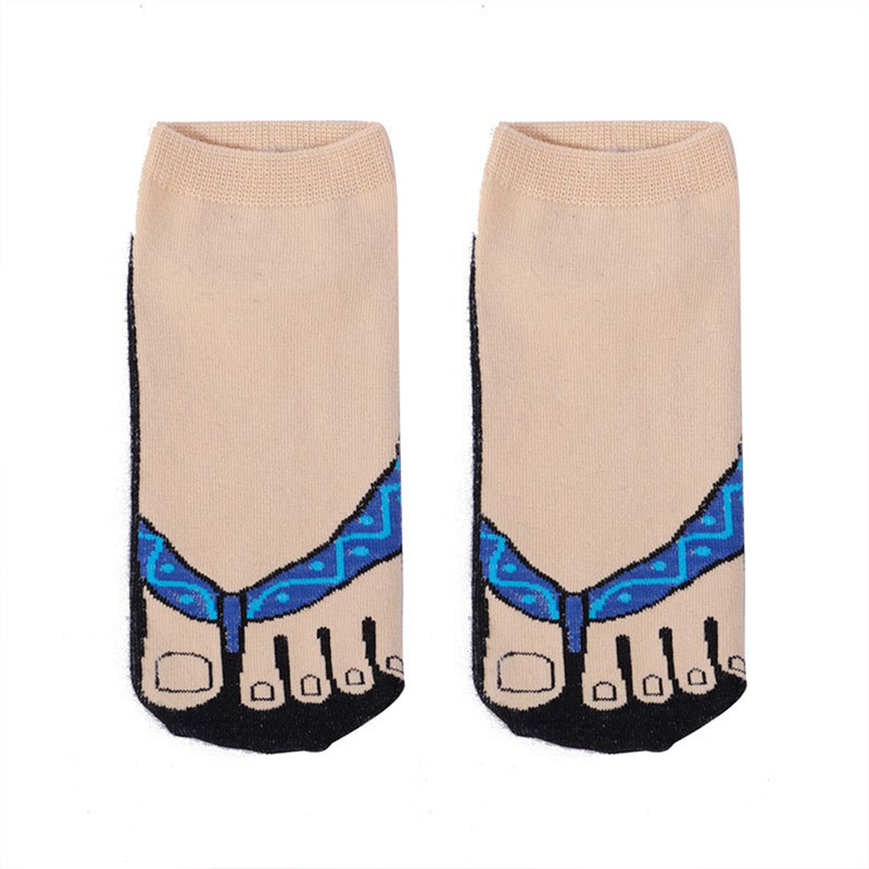 Happy Socks New Cartoon Animal Socks Women Dharma Fish Blessing Shoes Socks Short Funny Cotton Creative Pattern Socks New Soft