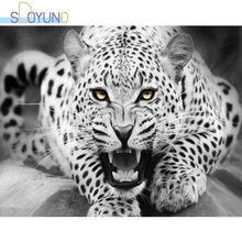 Набор для рисования по номерам на холсте леопард 60 х75 см