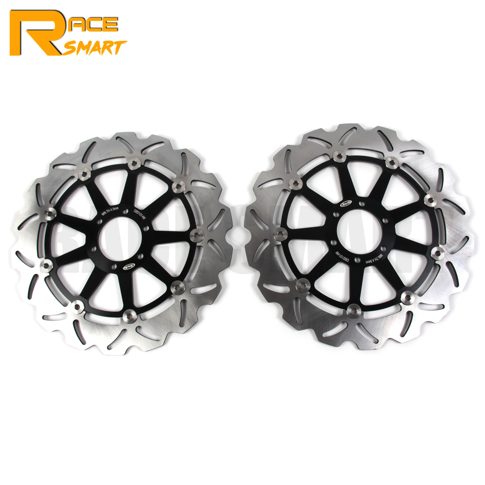 Motorcycle <font><b>1</b></font> Pair CNC Front Brake Disks For BIMOTA YB7 <font><b>400</b></font> 1989 Discs Rotors <font><b>V</b></font>-DUE 500 1997-2000 VDUE500 1997 1998 1999 2000 image