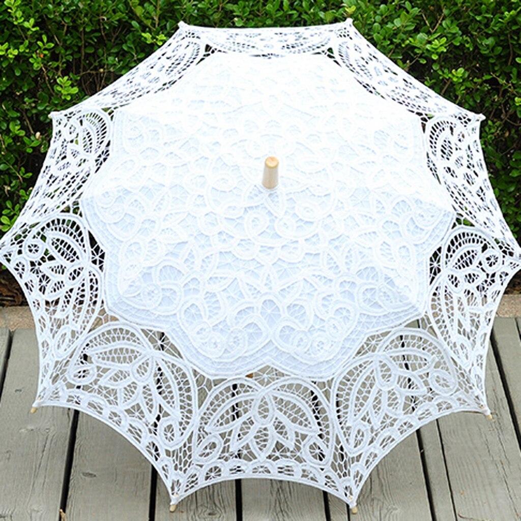 Elegant Lace Bridal Parasol Wedding Party Sun Umbrella Romantic Fancy Decor
