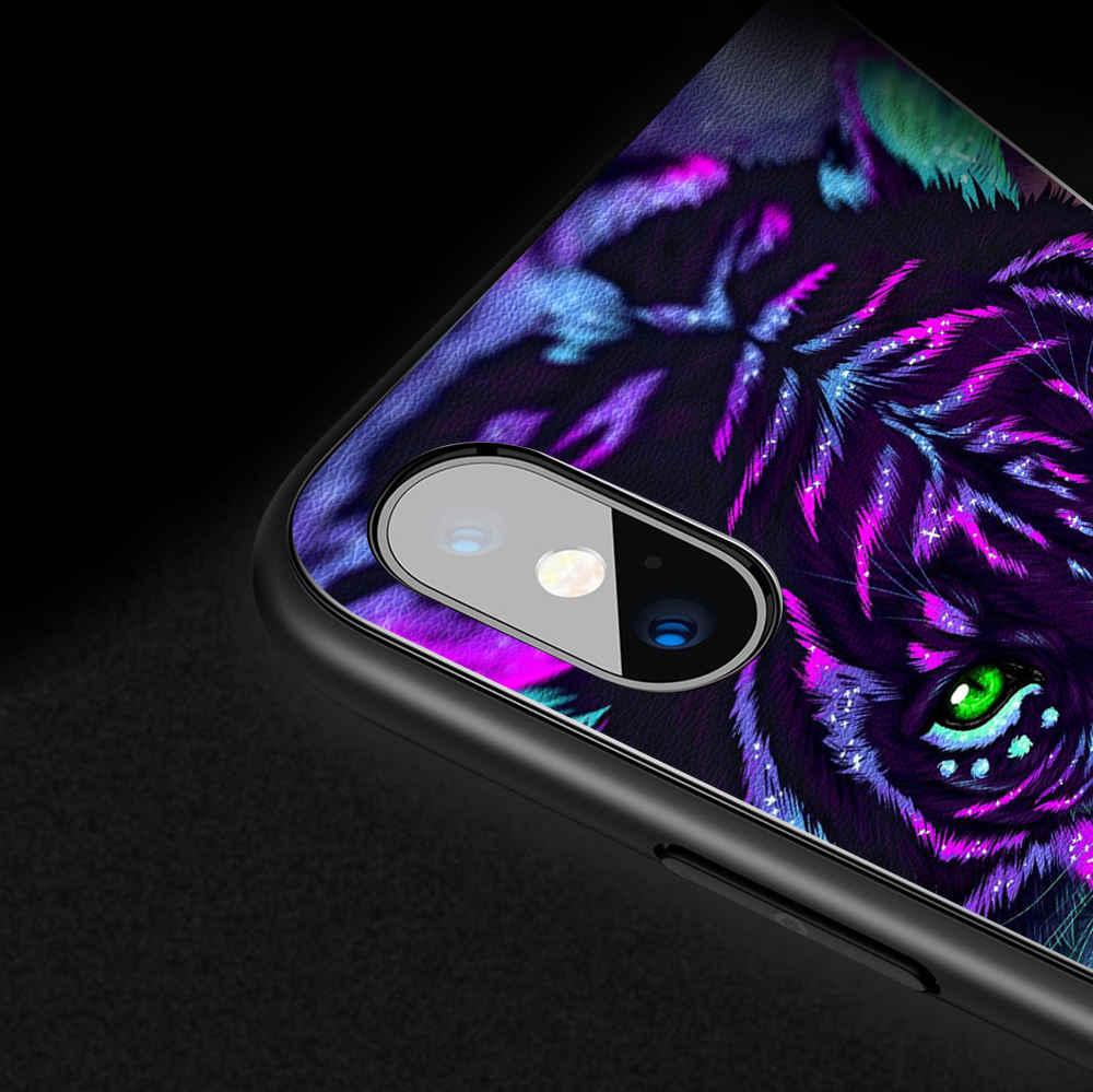 Phone Case For Xiaomi Mi 6 8 Lite 9 SE CC9e Case Cover Leather Silicone Luminous Light Glowing Back Cover Funda Coque Capa